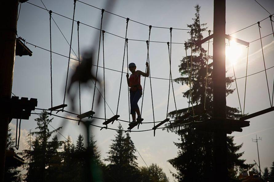 Park linowy w Zakopanem - Złota Grań na Gubałówce 4