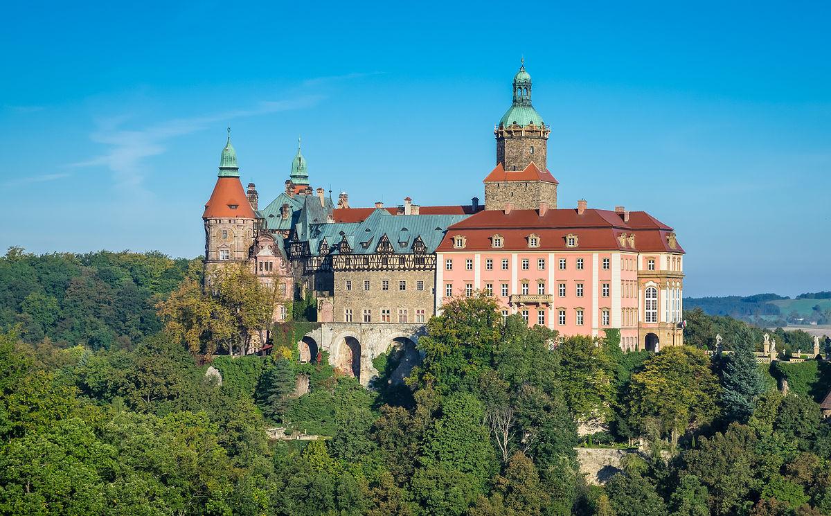 Zamek Książ w Wałbrzychu – trzeci co do wielkości zamek w Polsce