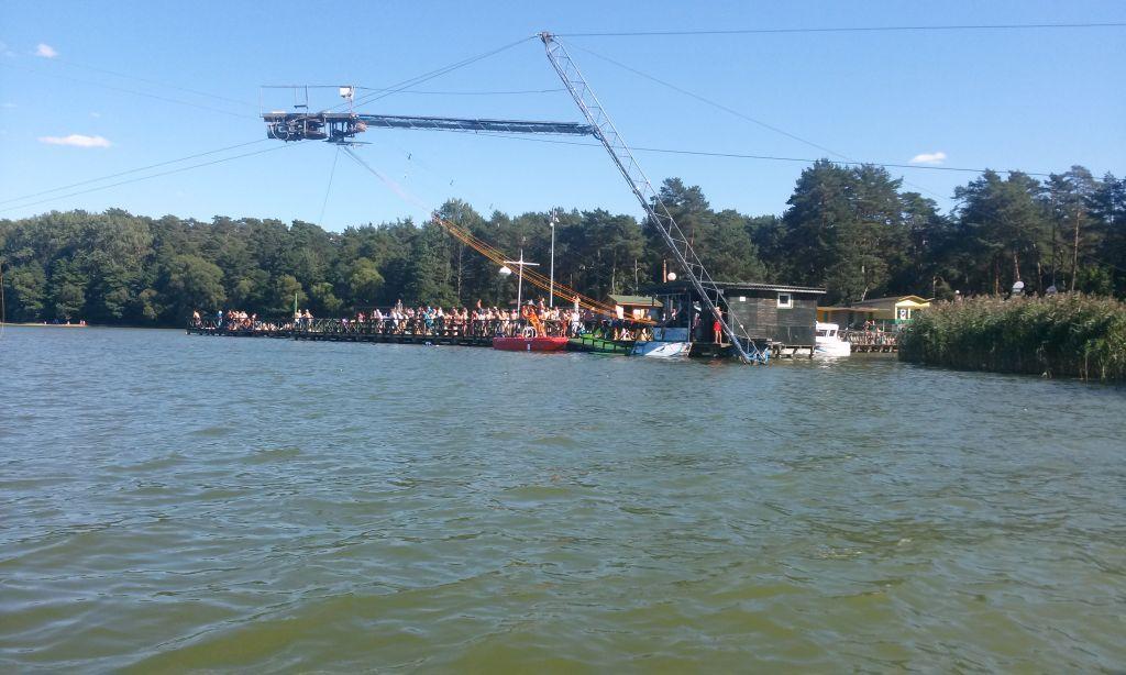 Wyciąg nart wodnych w Augustowie