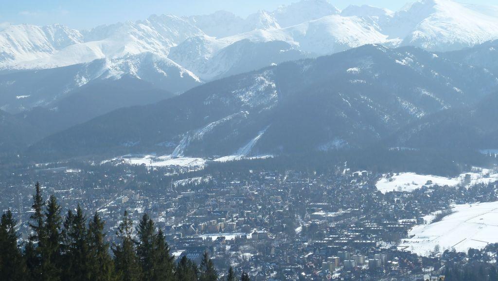 Gubałówka rozkoszny widok na Zakopane