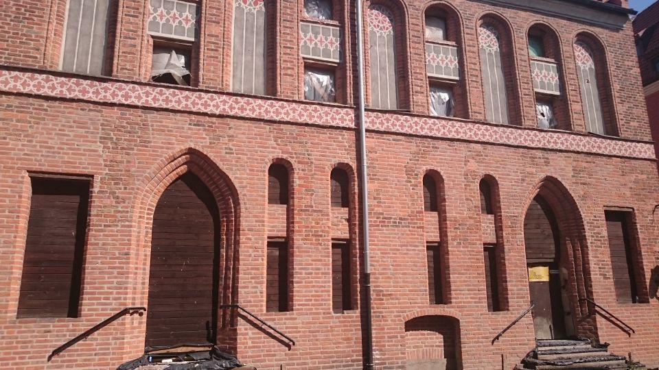 Gotyckie spichrze na ulicy Rabiańskiej