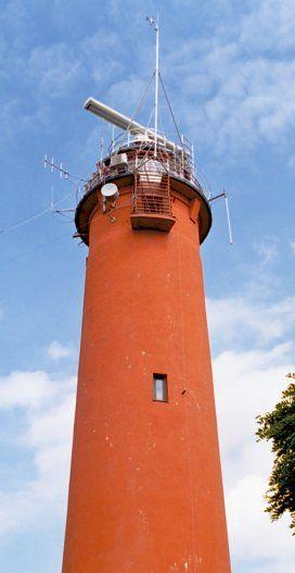 Zabytkowa latarnia morska w Krynicy Morskiej